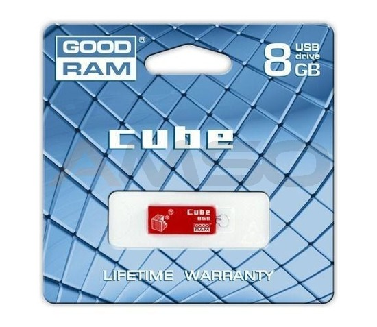 Pendrive GOODRAM CUBE 8GB RED RETAIL9