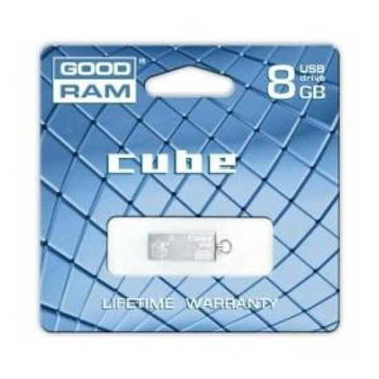 Pendrive GOODRAM CUBE 8GB SILVER RETAIL9