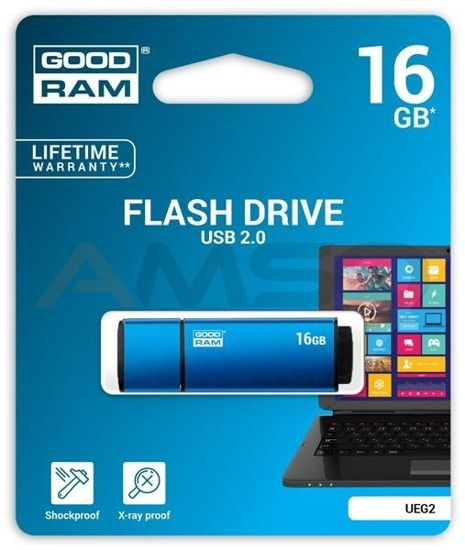 Pendrive GOODRAM EDGE 16GB Slim Alu.