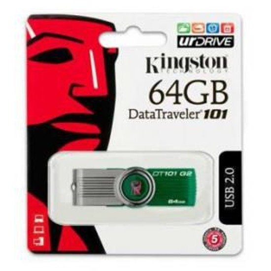 Pendrive KINGSTON DataTraveler 101 Gen2 64GB USB 2.0 GREEN