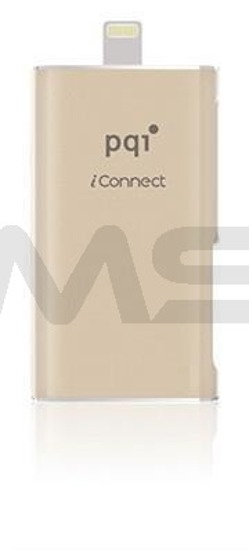 Pendrive PQI iConnect OTG do iPhone/iPad 64GB gold