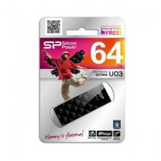 Pendrive Silicon Power 4GB Ultima U03 Black Diamond Cut