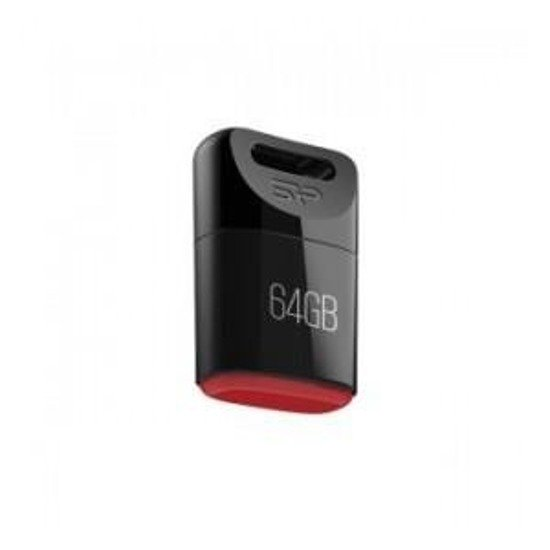 Pendrive Silicon Power 64GB USB 2.0 Touch T06 Black
