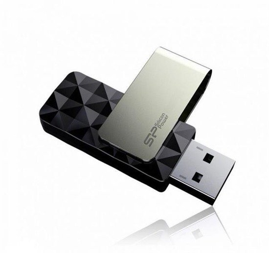 Pendrive Silicon Power 8GB USB 3.0 Blaze B30 Black