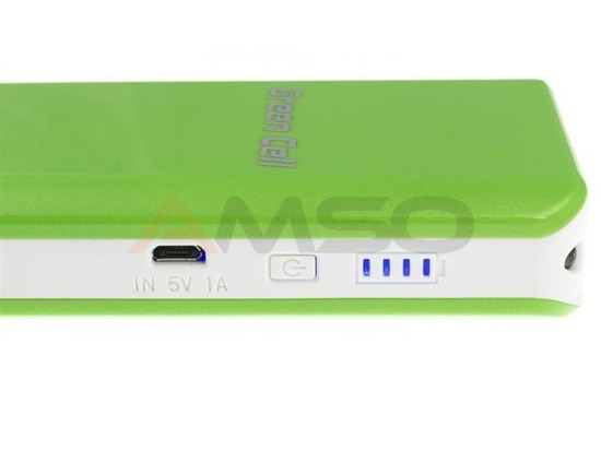 Power Bank Green Cell PB19 10400mAh zielono-biały