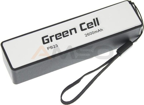 Power Bank Green Cell PB23 2600mAh czarny