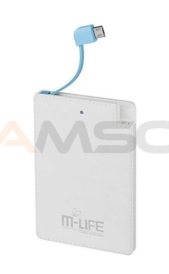 Power Bank M-LIFE 2600mAh z kablem microUSB