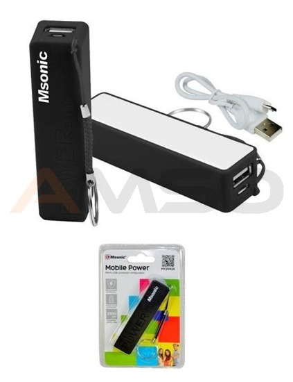 Power Bank MSONIC 2500mAh Li-Ion MY2552K czarny