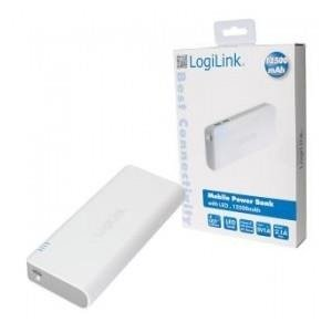 Power Bank PA0083 LogiLink 12500 mAh, biały
