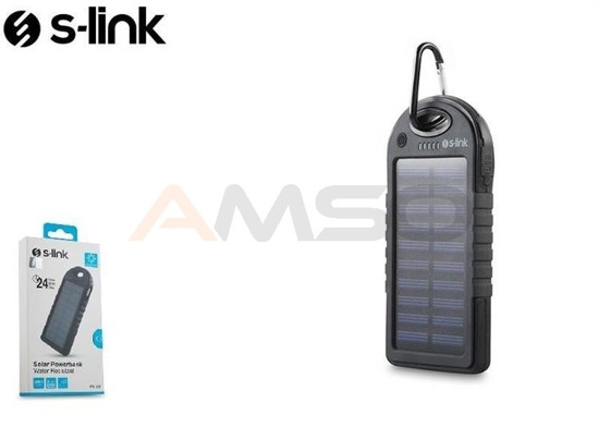 Power Bank S-link IPS-905 4000mAh Solar 2xUSB 1A/2.1A LED