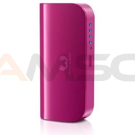 Power bank Fresh 'N Rebel 5200 mAh 2 porty wildberry