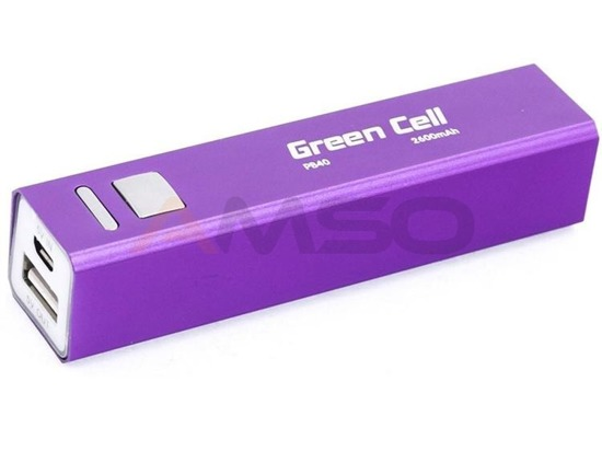 Power bank Green Cell PB40 2600mAh fioletowy