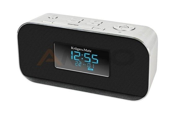 Radiobudzik Kruger&Matz Bluetooth. AUX, USB model KM1150