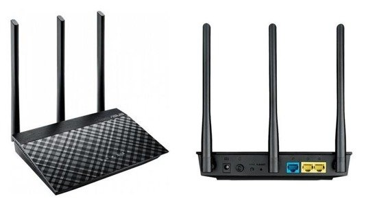 Router ASUS RT-AC53 Wi-Fi AC750 Dualband 2xLAN 1xWAN MIMO