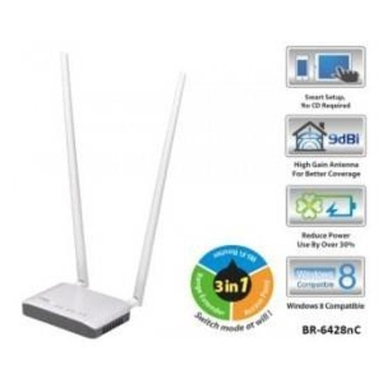 Router Edimax BR-6428nC WiFi N300 AP - t. poserwisowy