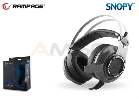 Słuchawki gamingowe Rampage SN-RW3 Black 7.1 USB Vibration LED Gaming