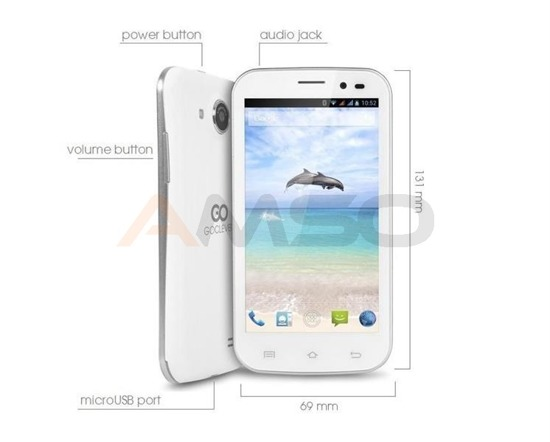 "Smartfon GOCLEVER FONE 450Q 4,5""/4GB/dual core/5MP/UMTS/Andr4.2 white"