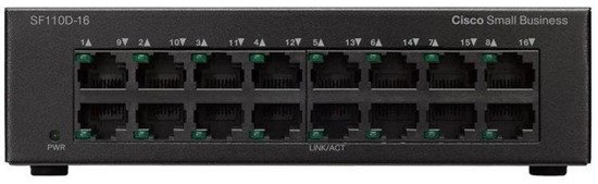 Switch Cisco SF110D-16 16x10/100