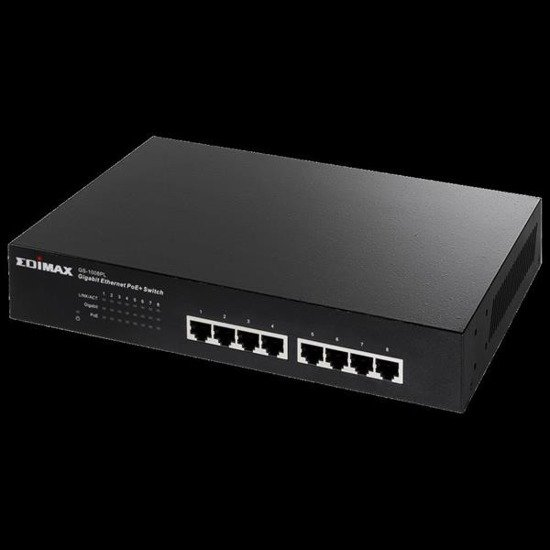 Switch Edimax GS-1008PL 8x100/1000 8xPoE+