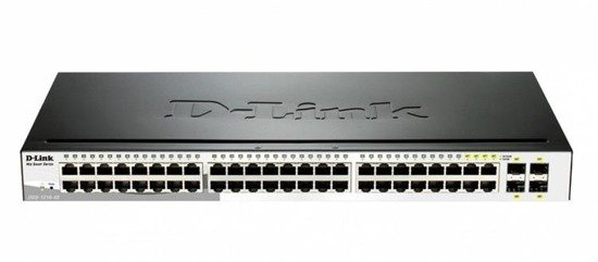 Switch zarządzalny D-Link DGS-1210-48 SMART switch L2 44x1GbE 4xCombo Metal Rack 19''