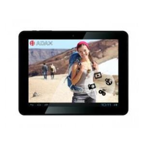 "Tablet ADAX 8JC1+ 8"" DC/8GB/1GB/BT/HDMI/A 4.1-poserwisowy"