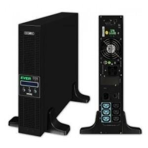 UPS Ever ON-L Powerline RT 1000VA VFI 6xIEC Sin USB RS LCD