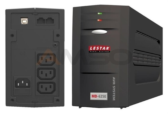 UPS Lestar L-INT MD-625E AVR 3xIEC USB RJ LED BLACK