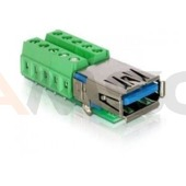 Adapter terminal block (10 pin) -> USB 3.0(F) Delock