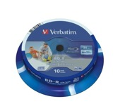 BD-R Verbatim 6x 25GB (Spindle 10) Blu-Ray Wide Printable