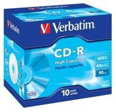 CD-R Verbatim 40x 800MB (Jewel Case 10) EXTRA PROTECTION