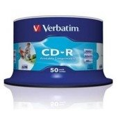 CD-R Verbatim 52x 700MB (Cake 50) WIDE PRINTABLE