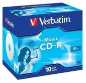 CD-R Verbatim AUDIO 80min (Jewel Case 10) MUSIC LIFE PLUS