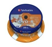 DVD-R Verbatim 16x 4.7GB (Cake 25) WIDE PRINTABLE