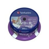 DVD+R Verbatim 16x 4.7GB (Cake 25) WIDE PRINTABLE