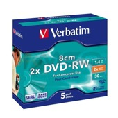 DVD-RW Verbatim 8cm 2x 1.4 GB (Jewel Case 5) MATT SILVER