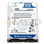 Dysk  WD3200LPVX, 2.5'', 320GB,WD Blue,SATA/600,5400,8MB,7mm