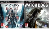 Gra Assassins Creed ROGUE i WATCH DOGS (PS3)