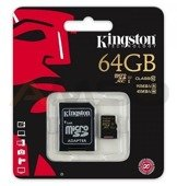 Karta pamięci Kingston MicroSDXC 64GB class 10 UHS-I 90/45MB/s + adapter