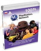 Karta zdrapka PlayStation Plus Card 100 PLN