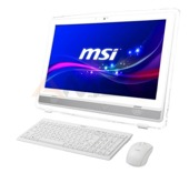 "Komputer AiO MSI Wind Top AE222 21,5"" touch /G3250/4GB/1TB/IHD/W10 White"