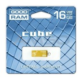 Pendrive  GOODRAM CUBE 16GB GOLD RETAIL9