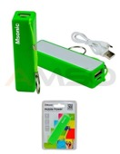 Power Bank MSONIC 2500mAh Li-Ion MY2552E zielony
