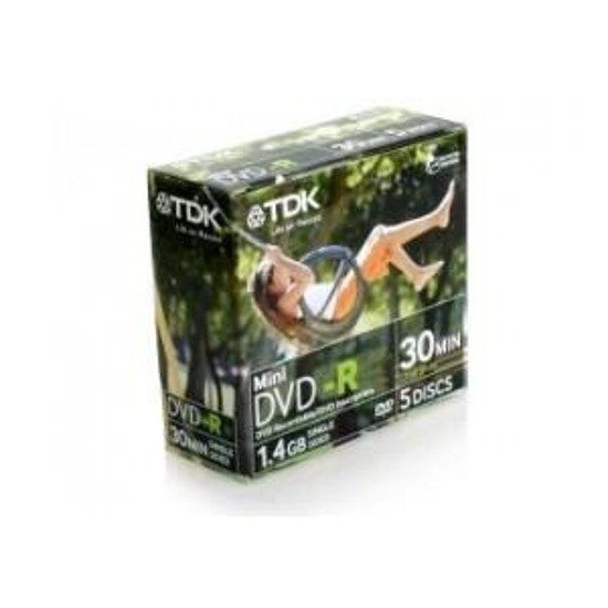 DVD-R TDK 1.4GB MINI (5-PACK MINI-BOX)