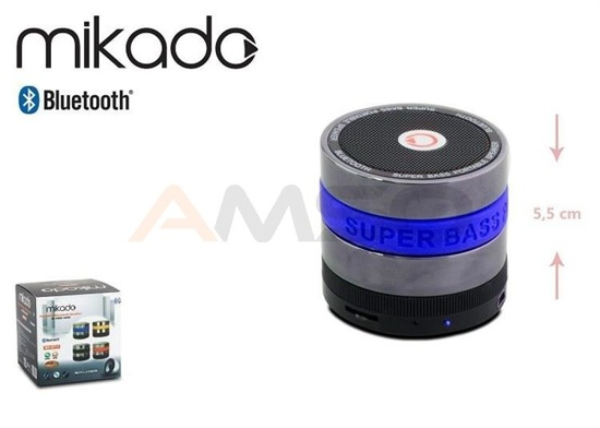 Głośnik Bluetooth Mikado MD-BT11 Blue FM Super Bass