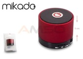 Głośnik Bluetooth Mikado MD-10BT Red Mikrofon Radio FM Metalowy
