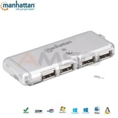 Hub USB Manhattan IUSB2-HUB599 USB 2.0x4 POCKET