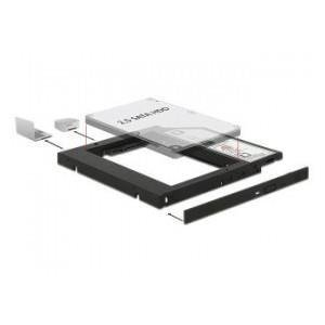 "ADAPTER HDD RAMKA 5.25""->2.5"" SLIM 9.5MM ( HDD W MIEJSCE CD/DVD W LAPTOPIE) DELOCK"