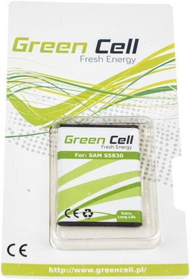 Bateria akumulator Green Cell do telefonu Samsung B7510 S5660 S5670 S5830 S7250 Galaxy ACE GIO PRO FIT Wave