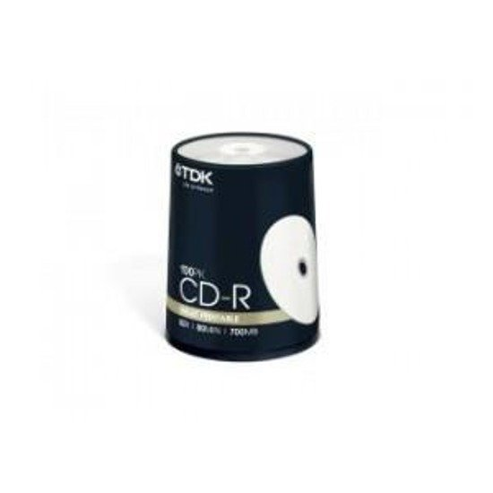 CD-R TDK 52x 700MB Printable (Cake100)