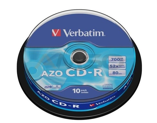 CD-R Verbatim 52x 700MB (Cake 10) CRYSTAL